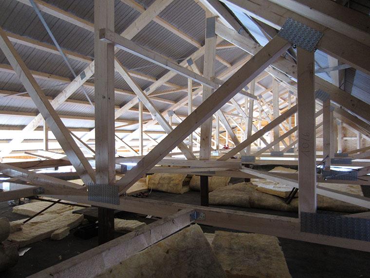 Konstruktion des Schallschutzdachs