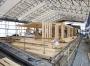 im Bau - Dachstuhl auf neuer Brettstapeldecke