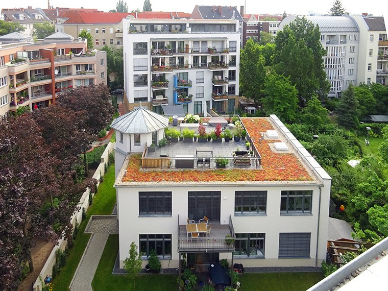 Ansicht Gartenhaus und Haus Kirchgasse