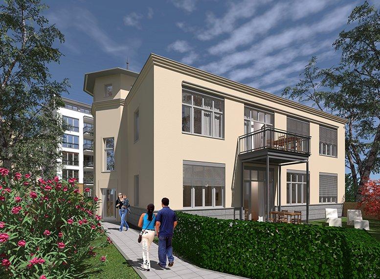 Gartenhaus. Visualisierung: Thomas Langenfeld