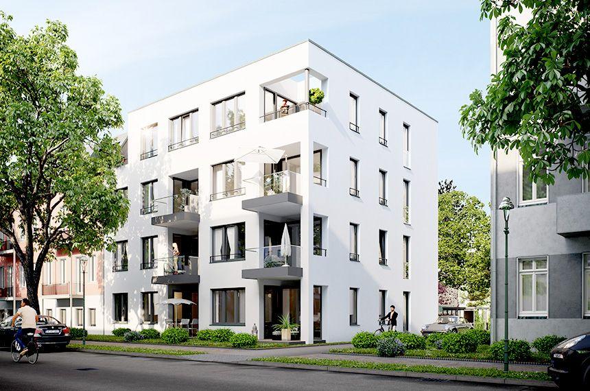Neubau Mehrfamilienhaus, Visualisierung: gruender-av