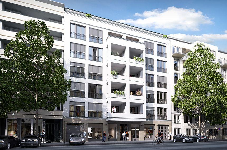 Neubau Mehrfamilienhaus und Gartenhaus in Berlin - Wilmersdorf, Visualisierung: gruender-av